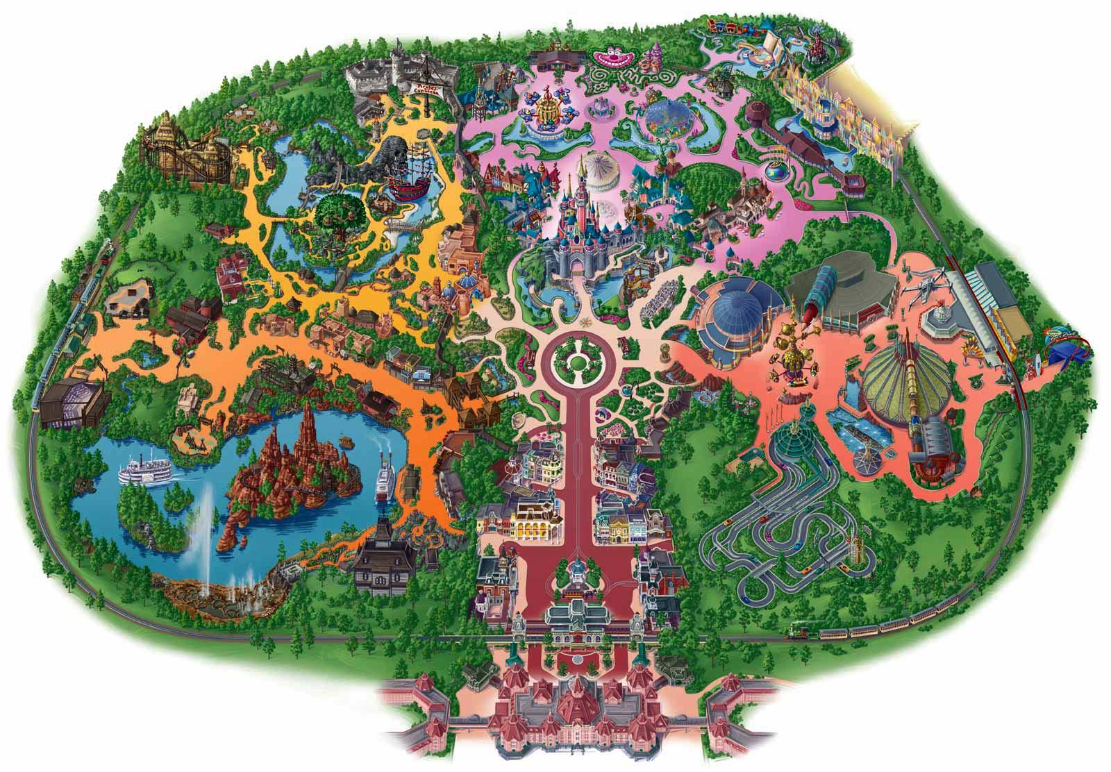 Disneyland in Paris | Map Collection