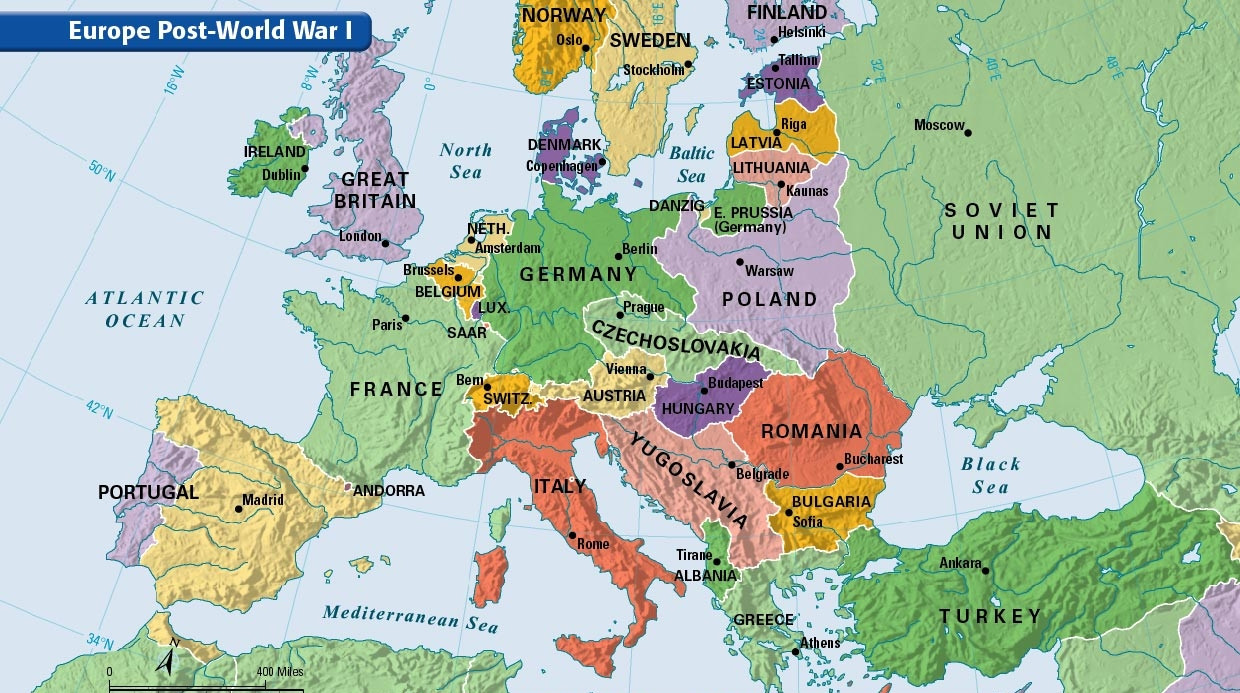 WW1 Europe after before ThingLink