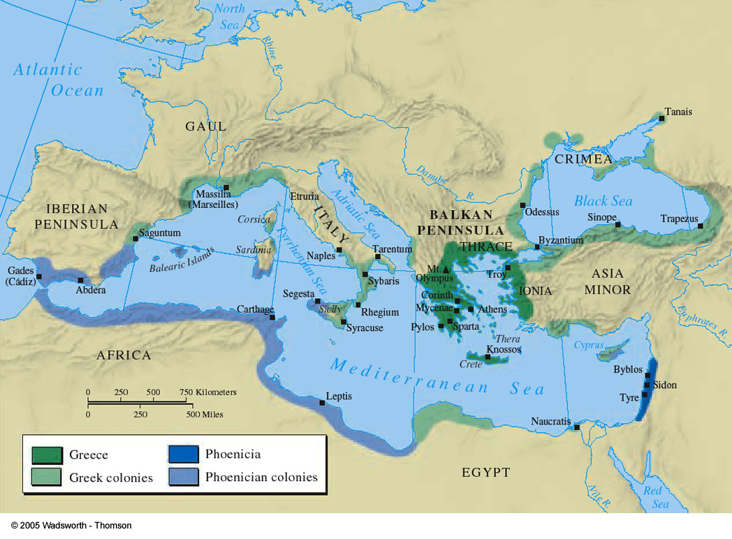 the origins and history of phoenicia in the east coast of the mediterranean sea Find out more about the history of ancient greece,  greek colonies sprang up from the mediterranean to asia minor, from north africa to the coast of the black sea.