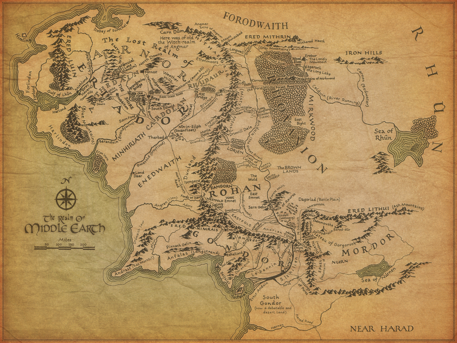 Terra Earth Map.Map Of Middle Earth From The Lord Of The Rings Map Collection