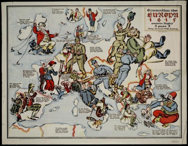 Satirical map of Europe 1915