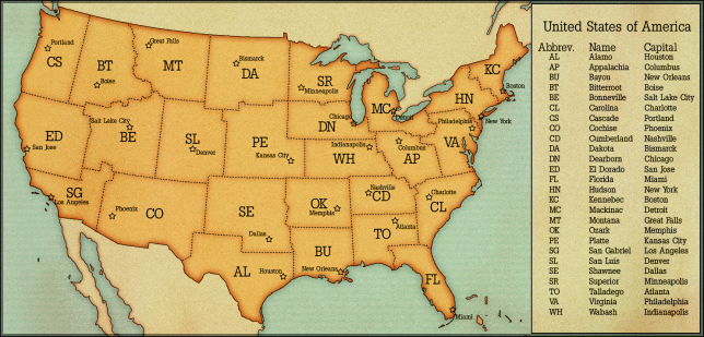 USA: States and Capitals