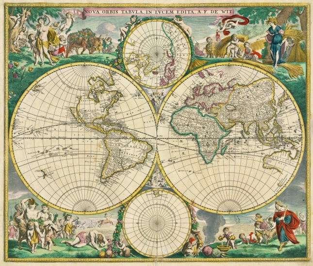 Frederik de Wit's 1670 world map