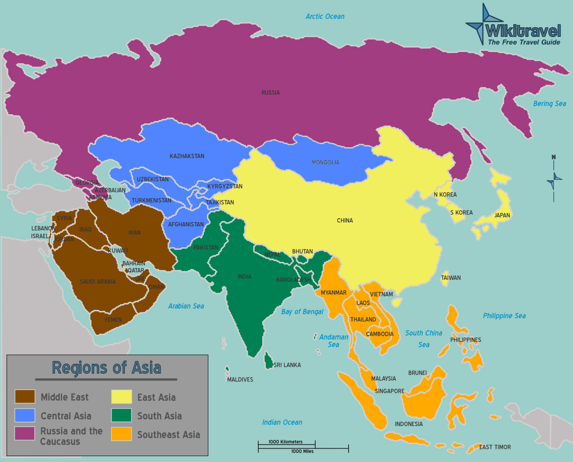 Map Of Asia Map Collection - What continent is afghanistan in