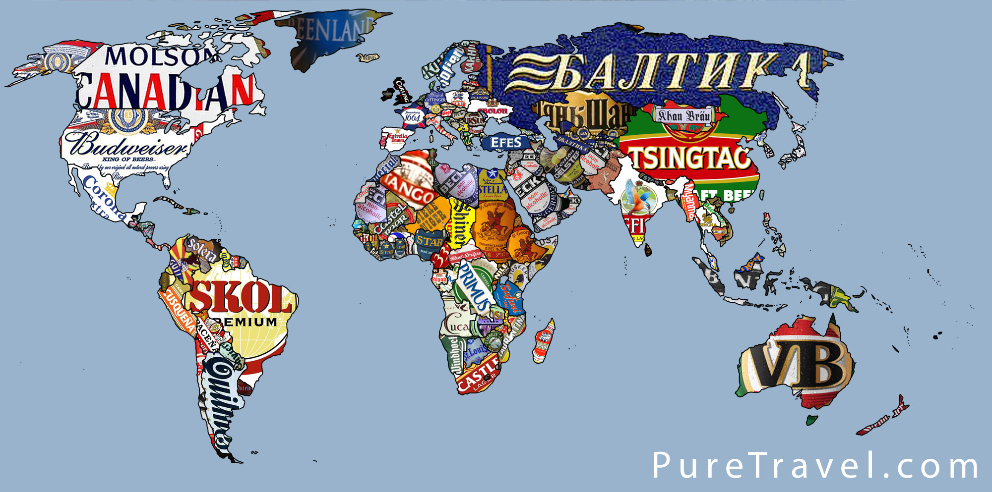 World Beer map   Map Collection