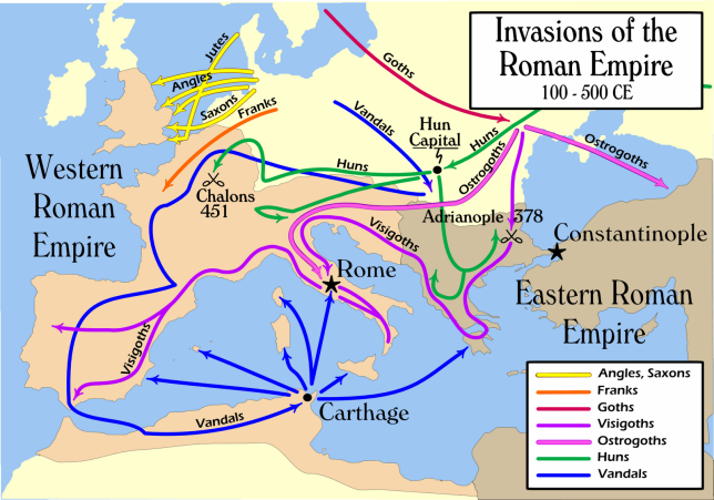 Invasions of the Roman Empire, 100-500 CE