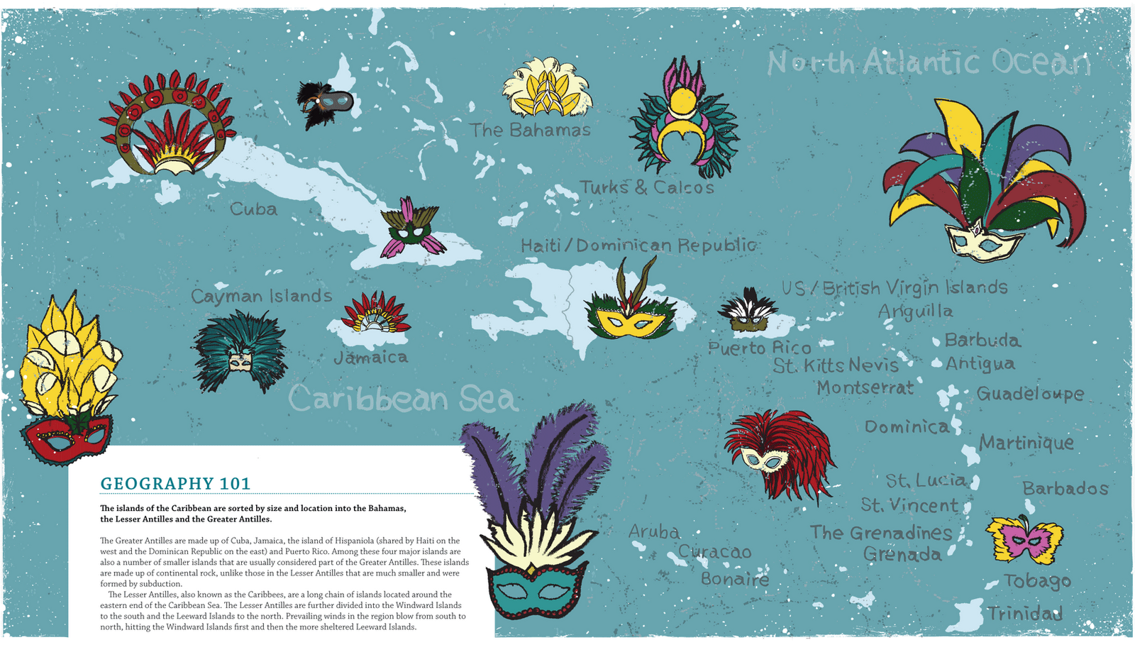 Caribbean Islands Map Map Collection - Caribbean islands map