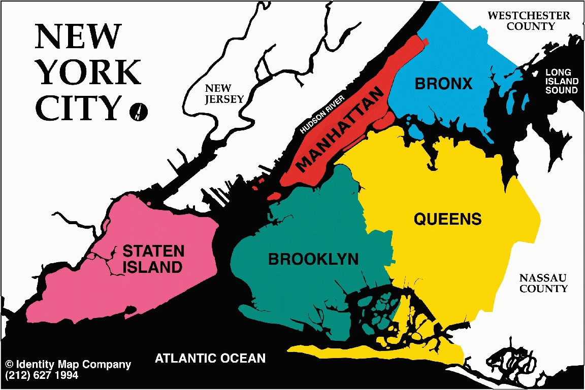 The Five Boroughs of New York city | Map Collection