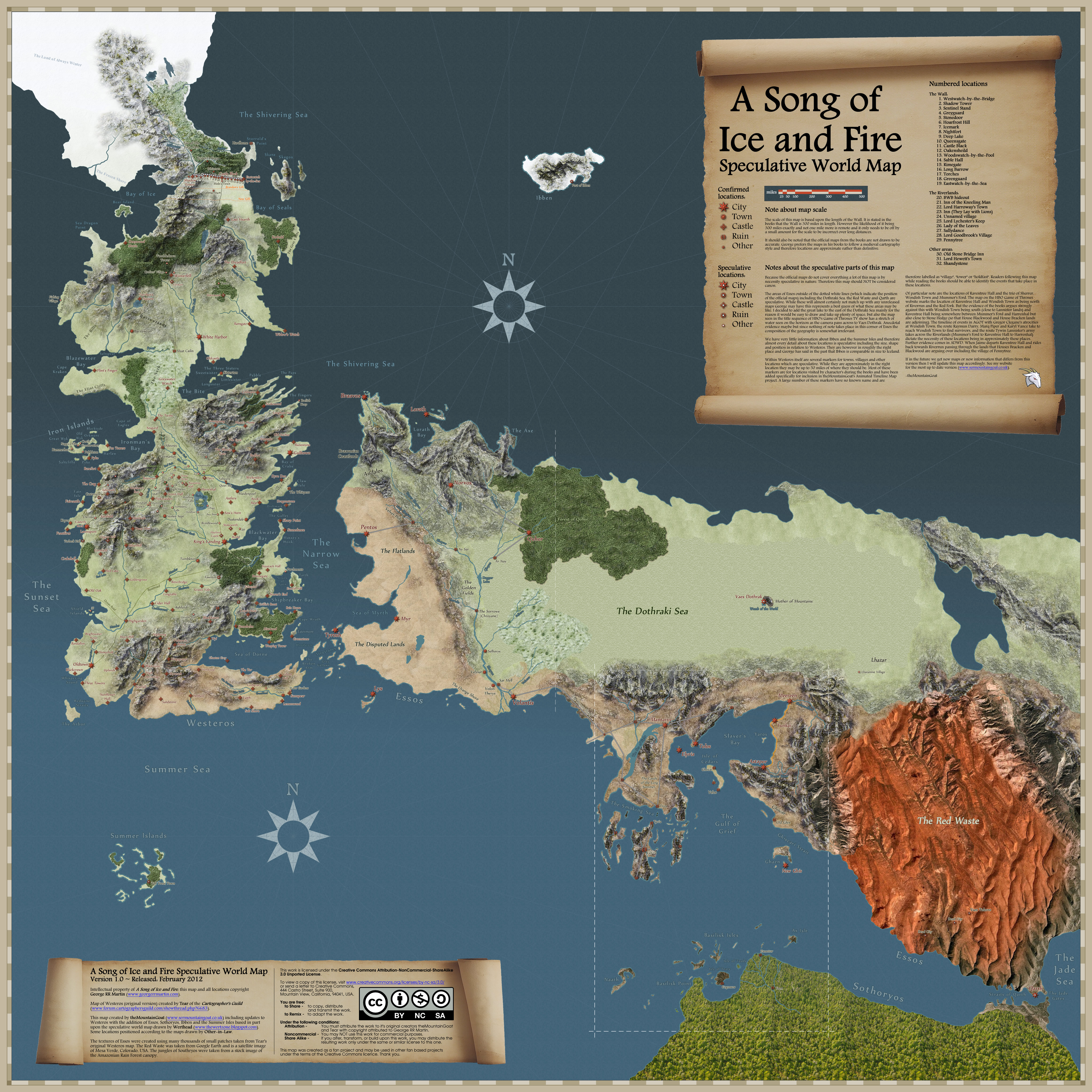 Game of Thrones world map Map Collection