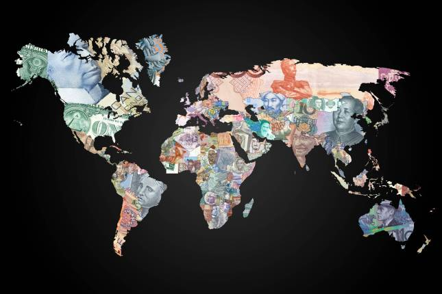 Monetary world map