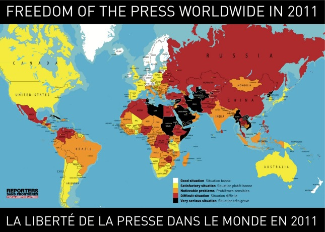 Freedom of the Press worldwide 2011