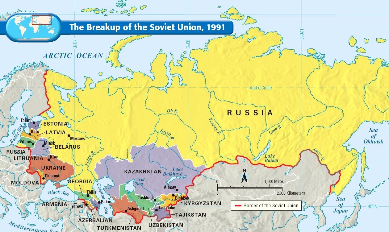 The breakup of the soviet union map collection ussr nations gumiabroncs