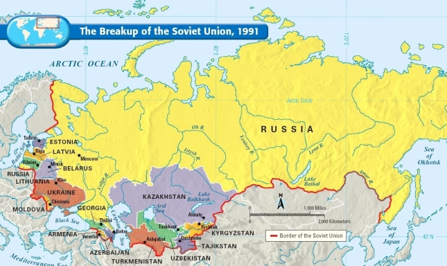 The Breakup Of The Soviet Union Map Collection - Us breakup map