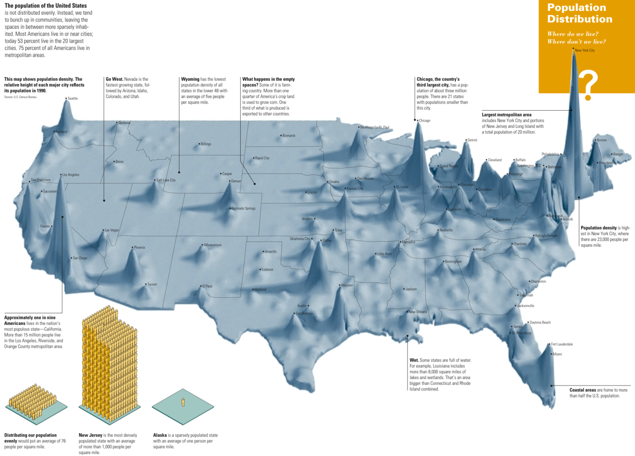 USA Population Density Map Collection - Us map population density