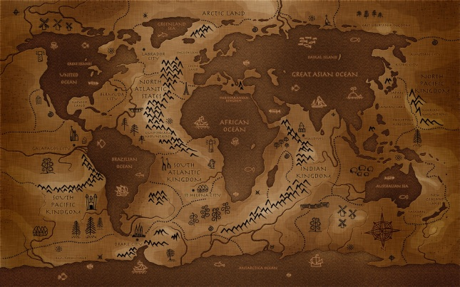 Reverse World Map
