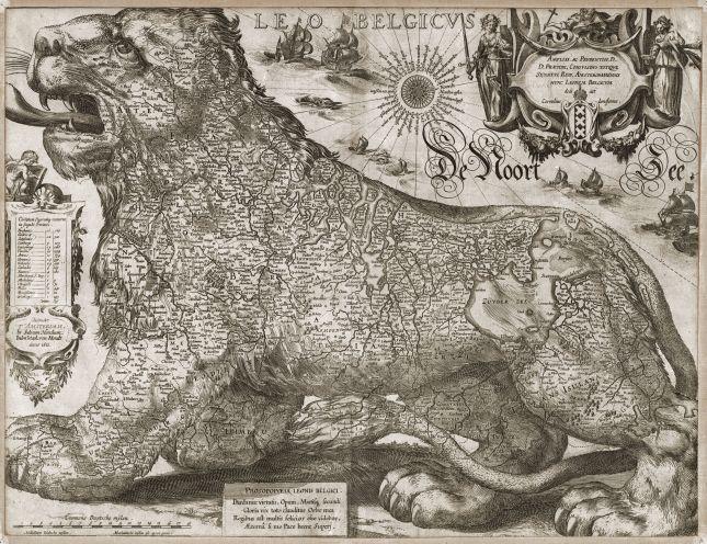 Jodocus Hondius' Leo Belgicus