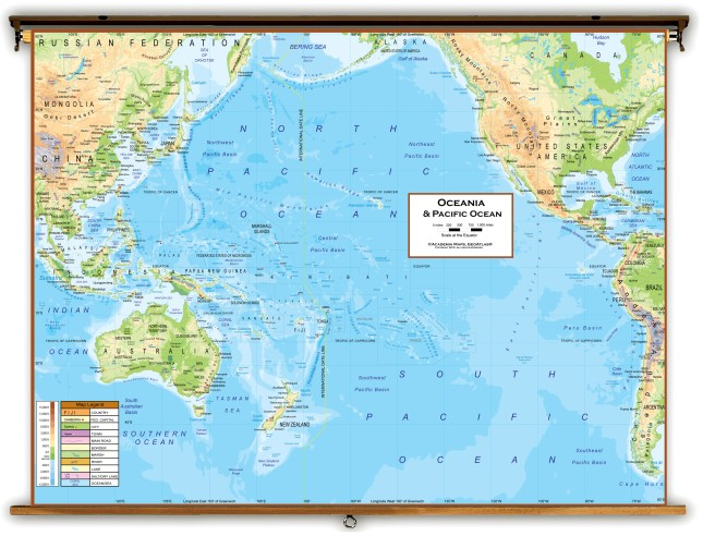Detailed Map of Oceania