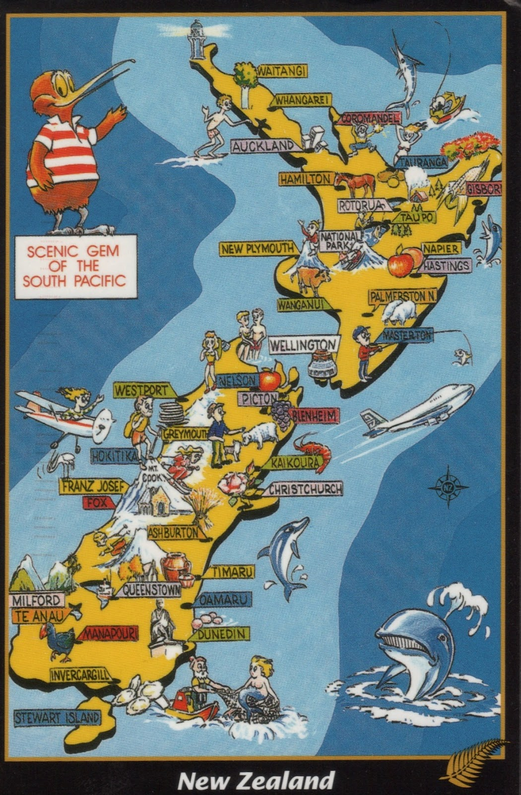 Pictorial map of New Zealand | Map Collection
