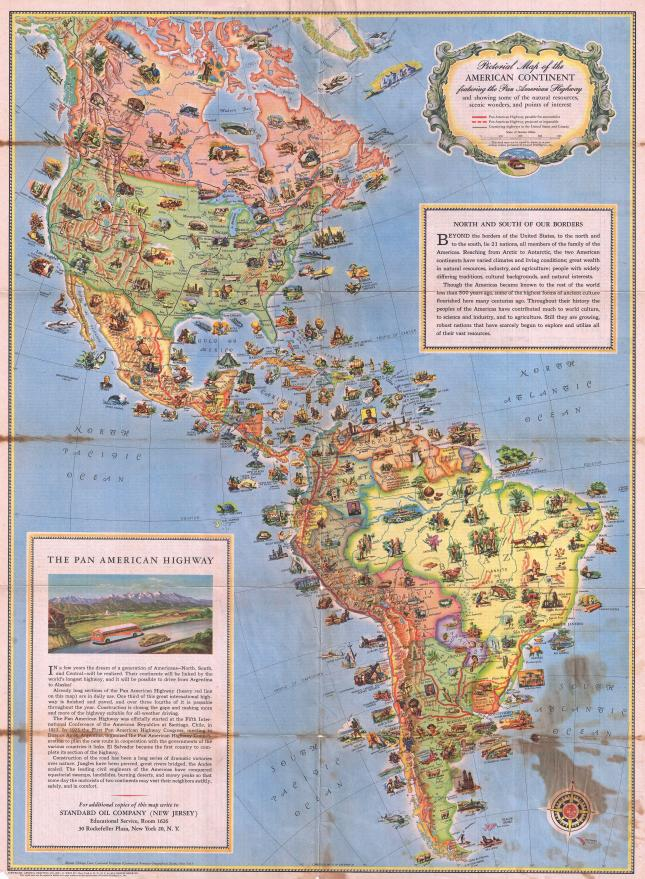 Pictorial map of the American Continent, 1930