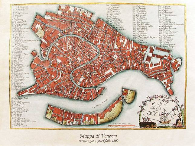 Historic map of Venice