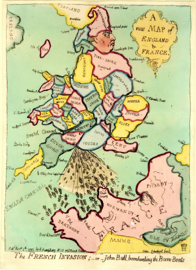 The French Invasion by James Gillray, 1793