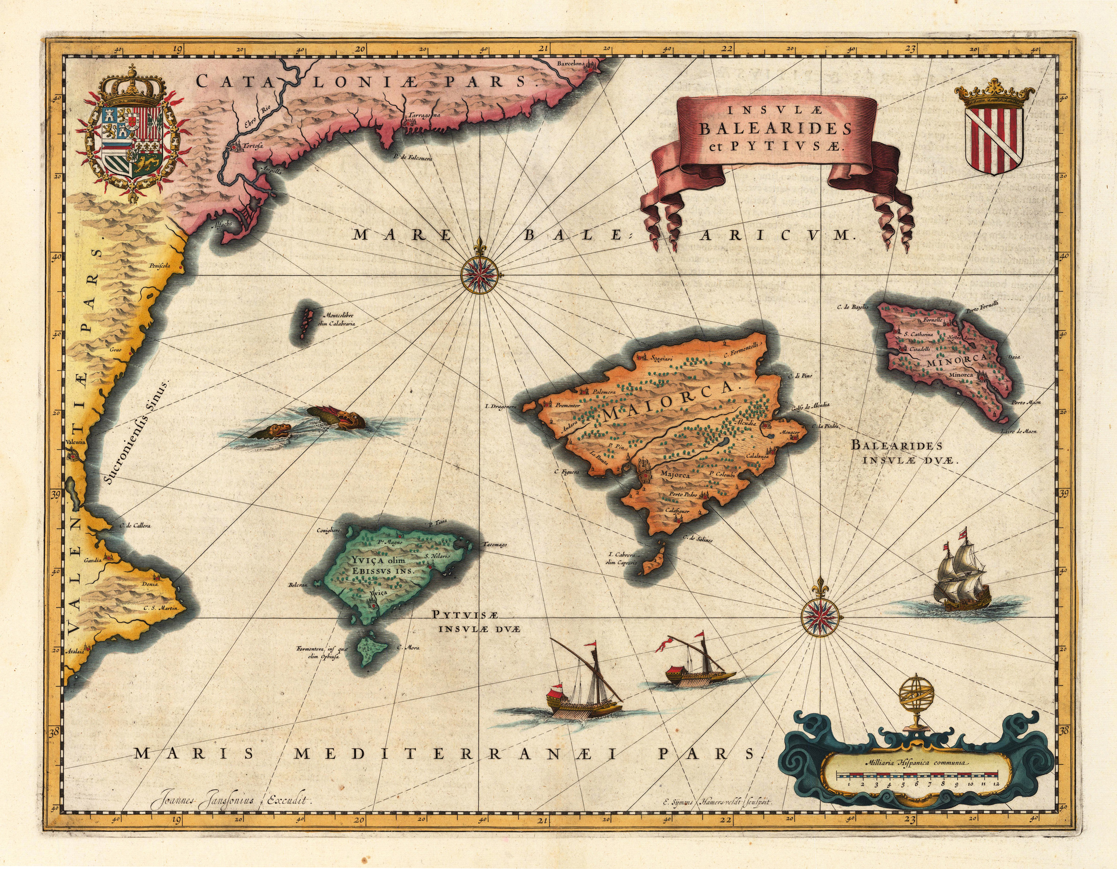 Historical map of the Balearic Islands Map Collection