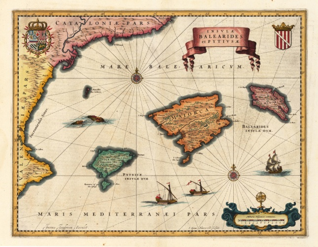 Historical map of the Balearic Islands