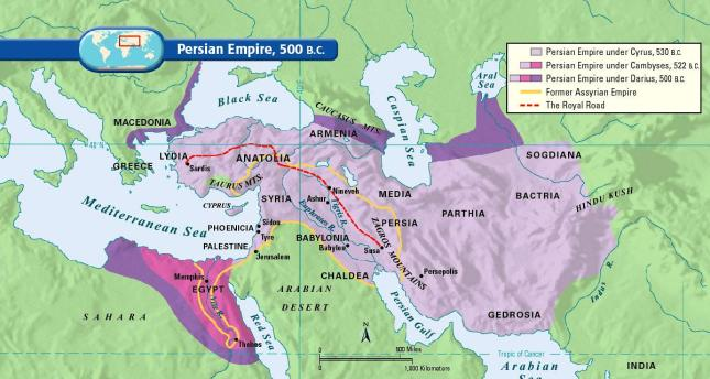 Persian Empire, 500 BC