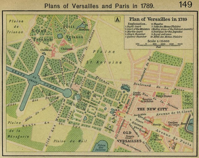 Plans of Versailles, Paris, 1789